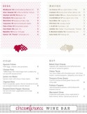 Dotted Grape Wine Bar Menu