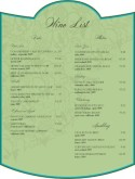 Vintage Label Wine Bar Menu