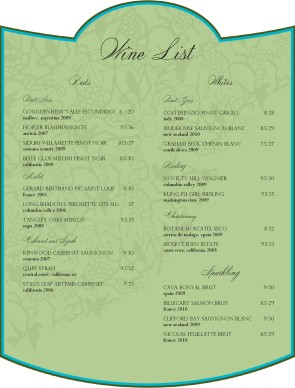 Customize Vintage Label Wine Bar Menu