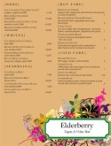 Colorful Flourished Wine Bar Menu
