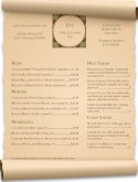 Scrolled Wine Bar Menu