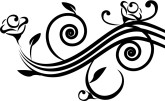 Art Deco Floral Spiral Accent