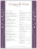 Purple Bottle Wine Bar Menu
