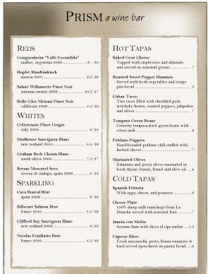 Sheer taupe wine bar menu wine bar menus customize sheer taupe wine bar menu pronofoot35fo Gallery