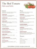 Rustic Pizza Menu