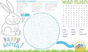happy bunny kids easter menu easter menus
