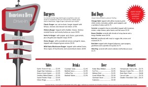 Customize Diner Burger Menu Long
