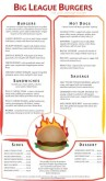 Flame Burger Menu Long