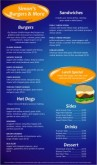 Blue Burger Menu Long