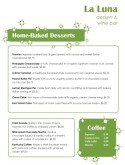Green Casual Dessert Menu