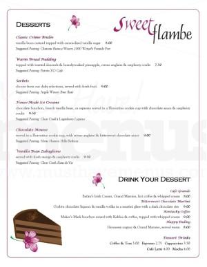 restaurant dessert menu template dessert menus. Black Bedroom Furniture Sets. Home Design Ideas