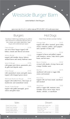 Customize Burger House Menu Long