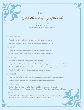 mother s day brunch menu template archive