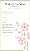 Mother's Day Restaurant Menu Long
