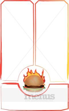 Flame Grilled Burger   Food Menu Borders
