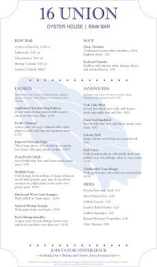 Customize Real Seafood Menu