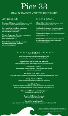 Fish house restaurant menu long template archive for Fish house menu