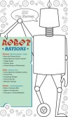 Robot Kids Menu Long