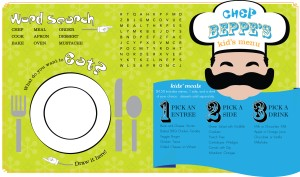 Customize Kids Chef Menu Long