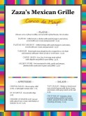 Cinco de Mayo Event Menu