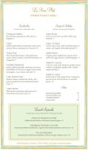 French Dinner Menu Long