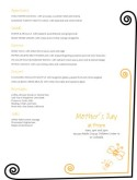 Mother's Day Craft Menu