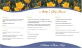 Mother's Day May Menu Long