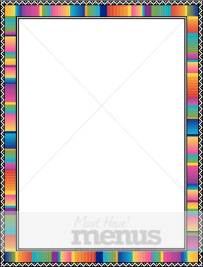 mexican serape frame menu borders - Mexican Frame