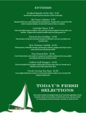 Fish House Restaurant Daily Special Menu