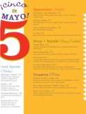 Mexican Cinco de Mayo Menu