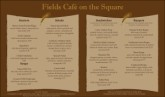 Cafe Bistro Menu Long