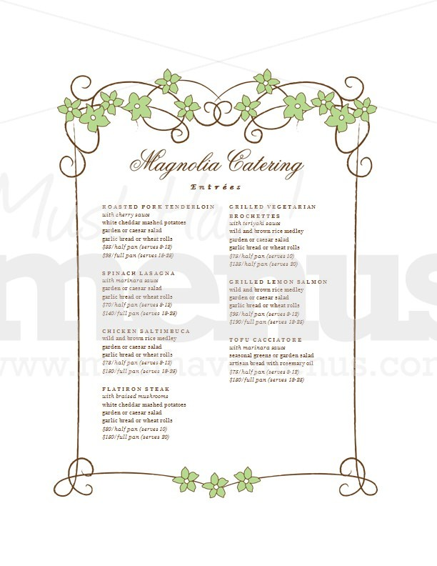 Wedding Reception Food List Image Collections Decoration Ideas