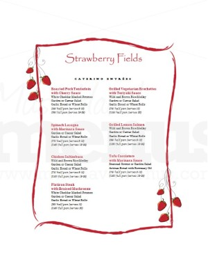 wedding catering package menu template template archive