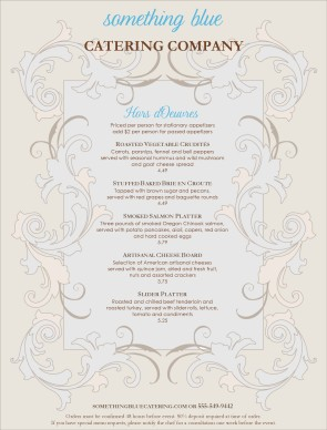 elegant wedding catering menu design templates by musthavemenus
