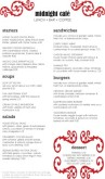 Jazz Cafe Menu Long