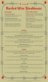 Steakhouse Menu Long