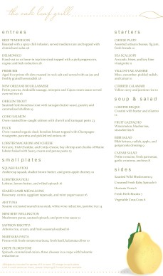 Customize Fruit Fine Dining Menu Long