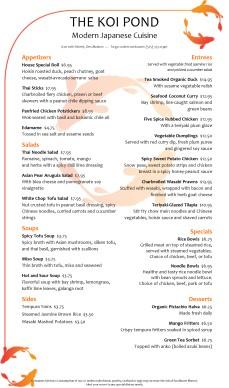 Japanese fish menu long japanese menus for Asian 168 cuisine menu
