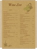 Parchment Wine List