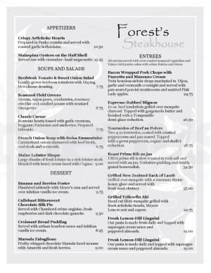 fancy steakhouse menu template american menu