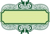 Decorative Green Swirls Label