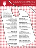 Bib Barbeque Menu