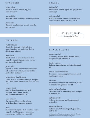 Label Fine Dining Menu Fine Dining Menus