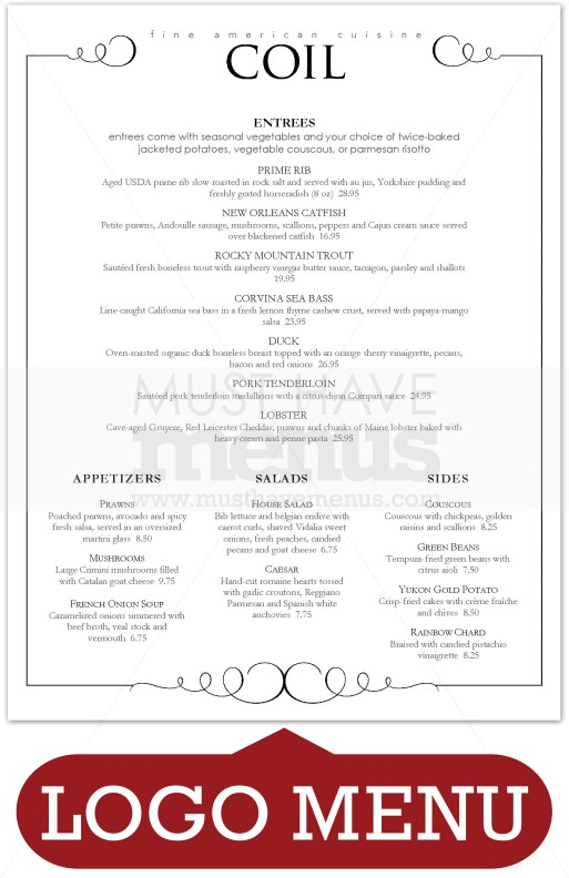 Fine Dining Menu Design Related Keywords Suggestions