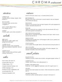 Color Fine Dining Menu