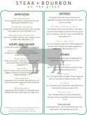 Steer Steakhouse Menu