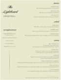 Light Fine Dining Menu