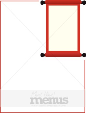 Red Scroll Inset