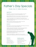 Golf Father's Day Menu