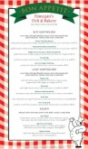 Red Checked Deli Menu Long